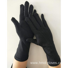Formal Black Glove Nylon Long Wristed